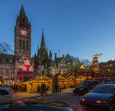 Christmas Market - Manchester - England stock photo