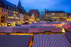Christmas Market-many stalls- Nuremberg (Nuernberg), Germany Royalty Free Stock Images