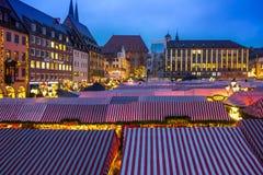 Christmas Market-many stalls- Nuremberg (Nuernberg), Germany Royalty Free Stock Images