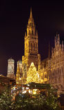 The christmas market on the Marienplatz in Munich. Germany royalty free stock photo