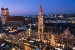 Christmas market on Marienplatz, Munich, Germany Stock Image