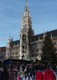 Christmas Market in Marienplatz Munich Stock Photography