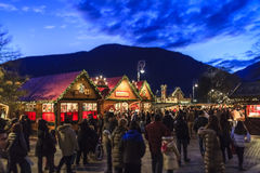 Christmas Market in Merano, Italy Stock Photo
