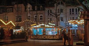 Christmas market in Moers Royalty Free Stock Photo