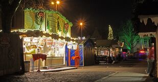 Christmas market in Moers Royalty Free Stock Image