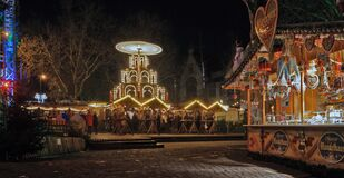 Christmas market in Moers Stock Photography