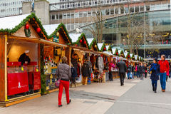 Christmas Market in Montparnasse, Paris Stock Image