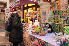 Christmas market in Moscow Royalty Free Stock Photo