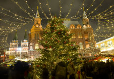 Christmas market in Moscow Stock Images