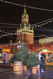 Christmas market in Moscow. Red Square Royalty Free Stock Photography