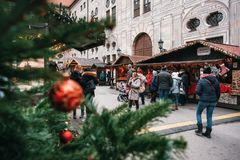 Christmas market in Munich, Germany stock photos