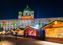 Christmas Market near Museum quarter in Vienna Austria stock photo
