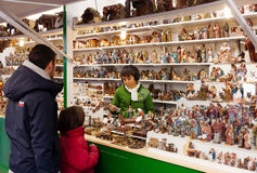 Christmas market near Sagrada Familia Stock Photo