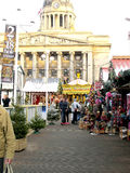 Christmas market, Nottingham. Stock Photo
