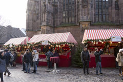 Christmas market in Nuremberg Royalty Free Stock Photos