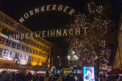 Christmas market in Nuremberg Stock Images