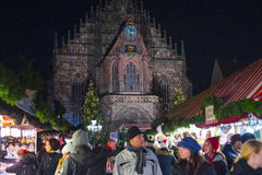 Christmas market in Nuremberg Stock Photo