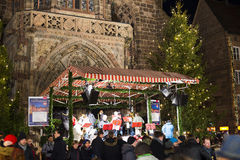Christmas market in Nuremberg Royalty Free Stock Image