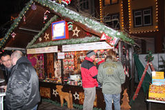 Christmas market in Offenburg, Germany Stock Photos