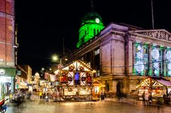 Christmas Market in Old Market Square, Nottingham stock image