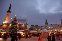 Christmas market in old town Stock Image