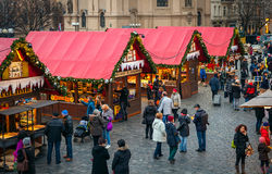 Christmas market in Old Town of Prague, Czech Republic. Stock Images