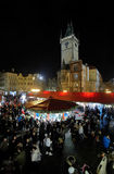 Christmas market on the Old Town Square in Prague Stock Photos