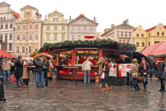 Christmas market on Old Town Square in Prague,Czech republic. Stock Photography