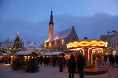 Christmas market in old town Stock Photo