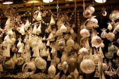 Christmas Market Ornaments Stock Image