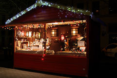 Christmas Market on Place Carnot Royalty Free Stock Images