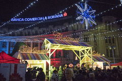 Christmas Market 2014. The Christmas Market placed in center of Bucharest at University Square, December 2014 Stock Photos