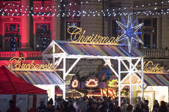 Christmas Market 2014(3). The Christmas Market placed in center of Bucharest at University Square, December 2014 Royalty Free Stock Photo