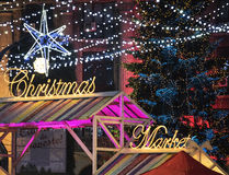 Christmas Market 2014(5). The Christmas Market placed in center of Bucharest at University Square, December 2014 Stock Image