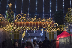 Christmas Market 2014(5). The Christmas Market placed in center of Bucharest at University Square, December 2014 Stock Photo