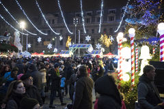 Christmas Market 2014(7). The Christmas Market placed in center of Bucharest at University Square, December 2014 Royalty Free Stock Photo