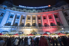 Christmas Market 2014(9). The Christmas Market placed in center of Bucharest at University Square, December 2014 Stock Photography