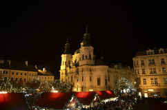 Christmas Market in Prague Stock Image