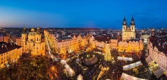Christmas market in Prague, Czech Republic Stock Photography