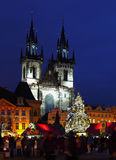 Christmas Market Prague Royalty Free Stock Photo