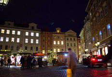 Christmas market Prague square Royalty Free Stock Photos