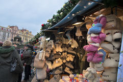 Christmas Market in Prague stock image