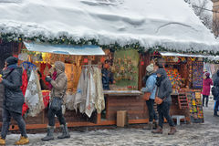Christmas market in Prague Stock Photos