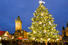 Christmas market in Prague (UNESCO), Czech republic Stock Image