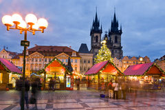 Christmas market in Prague (UNESCO), Czech republic Stock Photography
