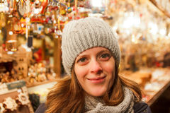 At the Christmas Market Royalty Free Stock Images
