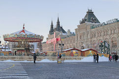 Christmas market on Red Square, Moscow Royalty Free Stock Images
