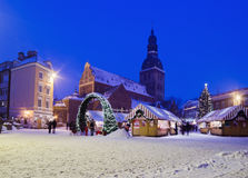 The christmas market in Riga Royalty Free Stock Images