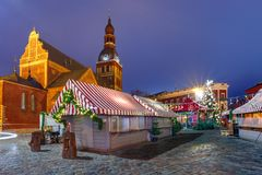 Christmas Market in Riga, Latvia Stock Photos