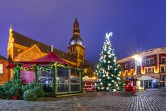 Christmas Market in Riga, Latvia Royalty Free Stock Photos